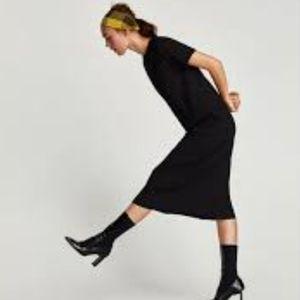 Zara Textured Midi Dress